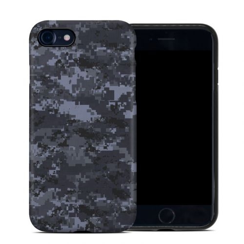 Digital Navy Camo iPhone SE Hybrid Case