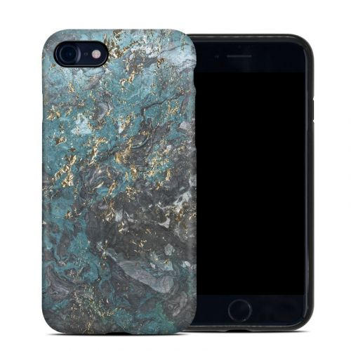 Gilded Glacier Marble iPhone SE Hybrid Case