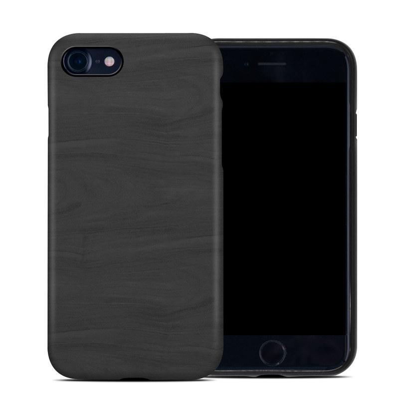 iPhone SE Hybrid Case design of Black, Brown, Wood, Grey, Flooring, Floor, Laminate flooring, Wood flooring with black colors