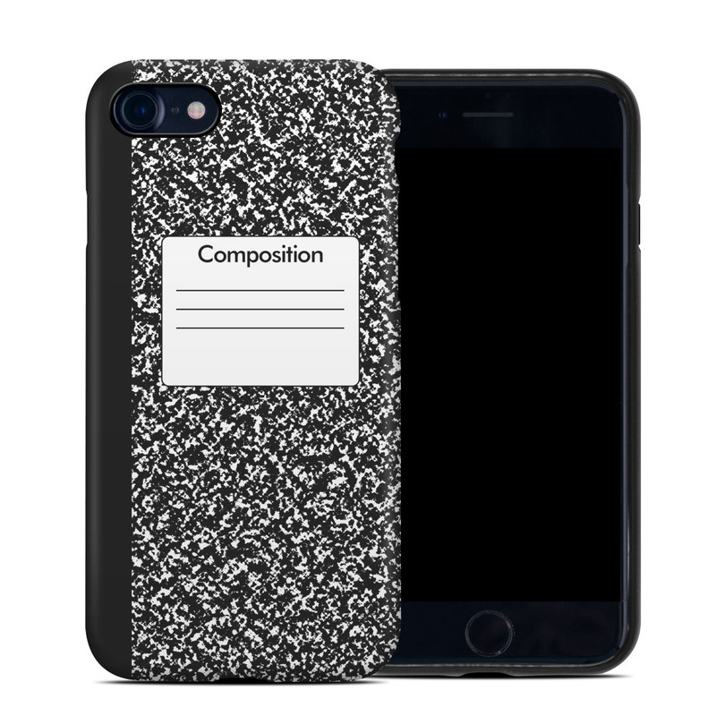 iPhone SE Hybrid Case design of Text, Font, Line, Pattern, Black-and-white, Illustration with black, gray, white colors