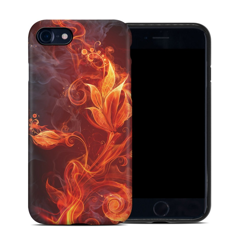 iPhone SE Hybrid Case design of Flame, Fire, Heat, Red, Orange, Fractal art, Graphic design, Geological phenomenon, Design, Organism with black, red, orange colors