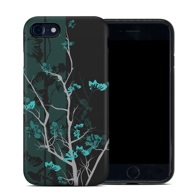 iPhone SE Hybrid Case design of Branch, Black, Blue, Green, Turquoise, Teal, Tree, Plant, Graphic design, Twig with black, blue, gray colors