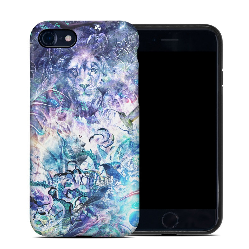 iPhone SE Hybrid Case design of Psychedelic art, Water, Fractal art, Art, Pattern, Graphic design, Design, Illustration, Electric blue, Visual arts with blue, purple, green, red, gray, white colors