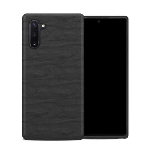 Black Woodgrain Samsung Galaxy Note 10 Hybrid Case