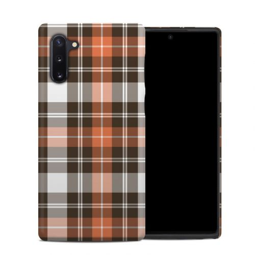 Copper Plaid Samsung Galaxy Note 10 Hybrid Case