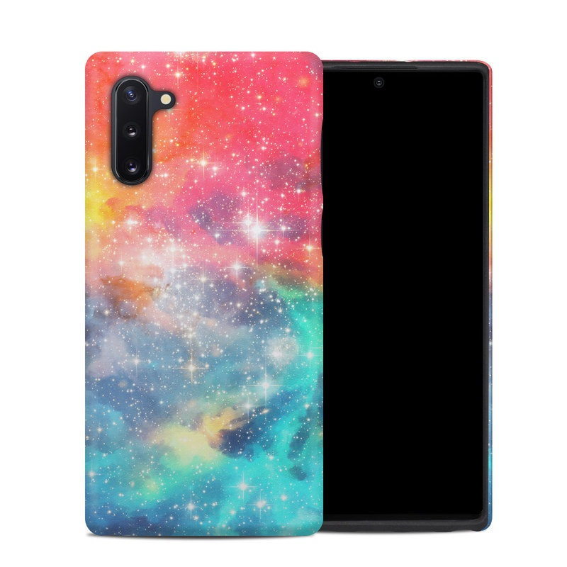 Samsung Galaxy Note 10 Hybrid Case design of Nebula, Sky, Astronomical object, Outer space, Atmosphere, Universe, Space, Galaxy, Celestial event, Star with white, black, red, orange, yellow, blue colors