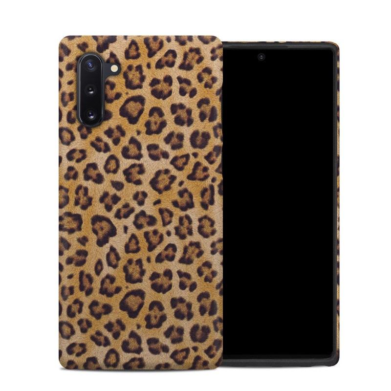 Samsung Galaxy Note 10 Hybrid Case design of Pattern, Felidae, Fur, Brown, Design, Terrestrial animal, Close-up, Big cats, African leopard, Organism with orange, black colors