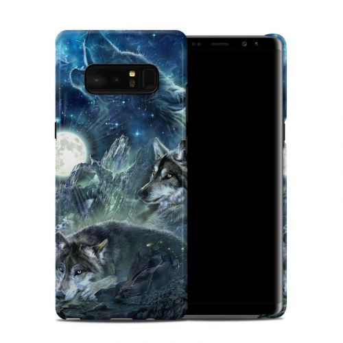 Bark At The Moon Galaxy Note 8 Clip Case