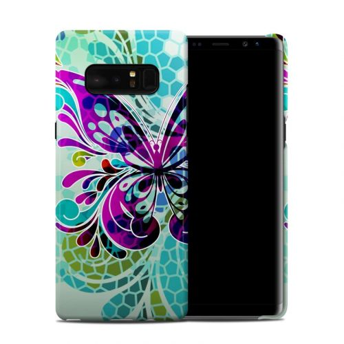 Butterfly Glass Galaxy Note 8 Clip Case