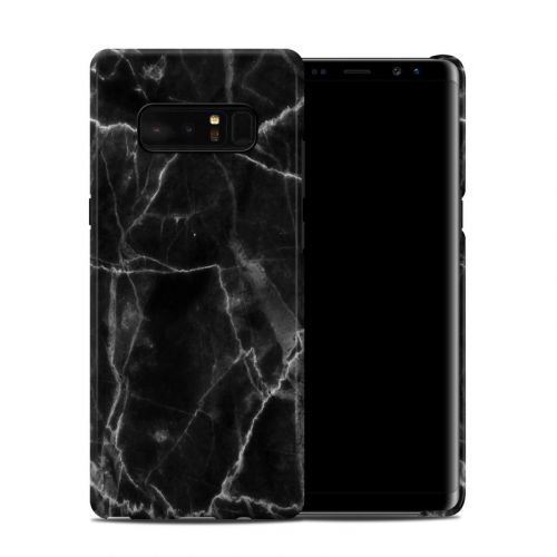 Black Marble Samsung Galaxy Note 8 Clip Case
