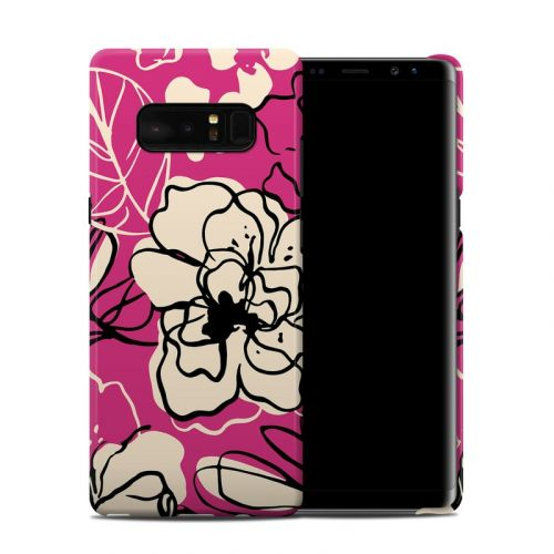 Black Lily Samsung Galaxy Note 8 Clip Case