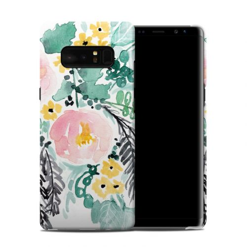 Blushed Flowers Samsung Galaxy Note 8 Clip Case