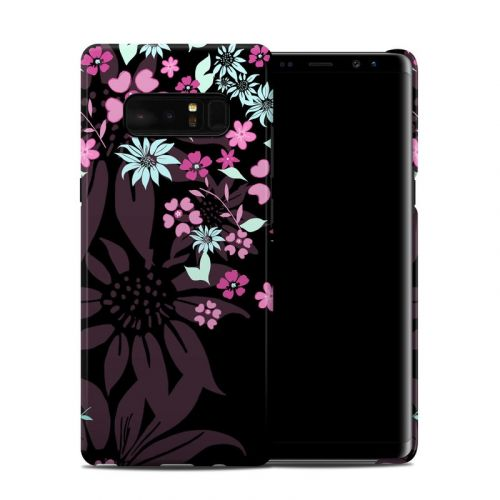Dark Flowers Galaxy Note 8 Clip Case