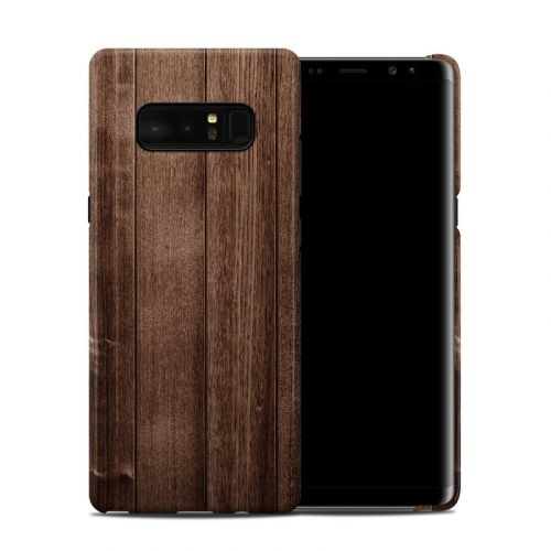 Stained Wood Galaxy Note 8 Clip Case