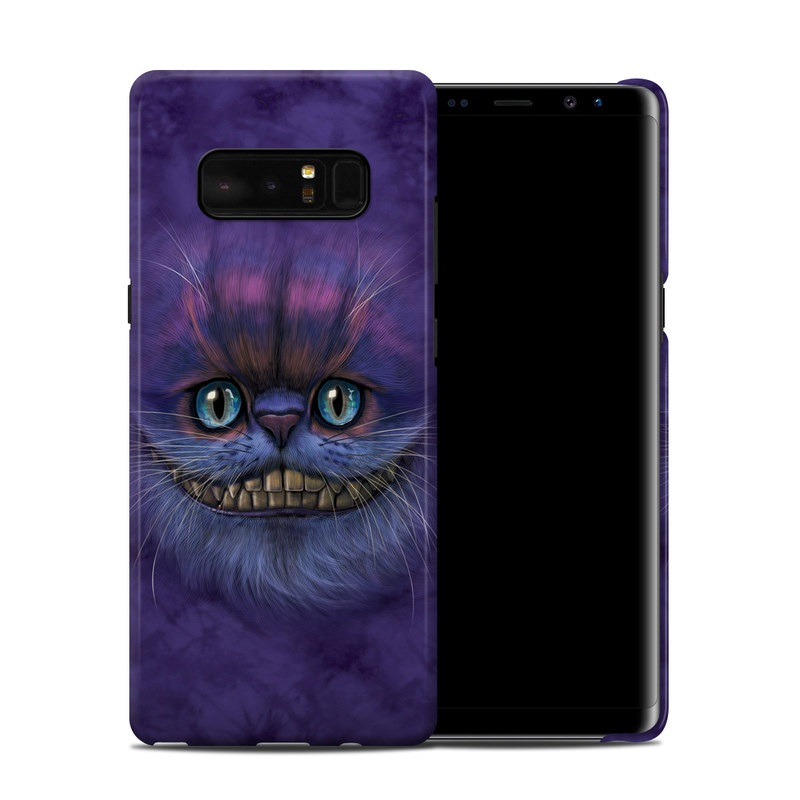 Samsung Galaxy Note 8 Clip Case design of Cat, Whiskers, Felidae, Small to medium-sized cats, Snout, Eye, Illustration, Ojos azules, Black cat, Carnivore with purple, blue colors