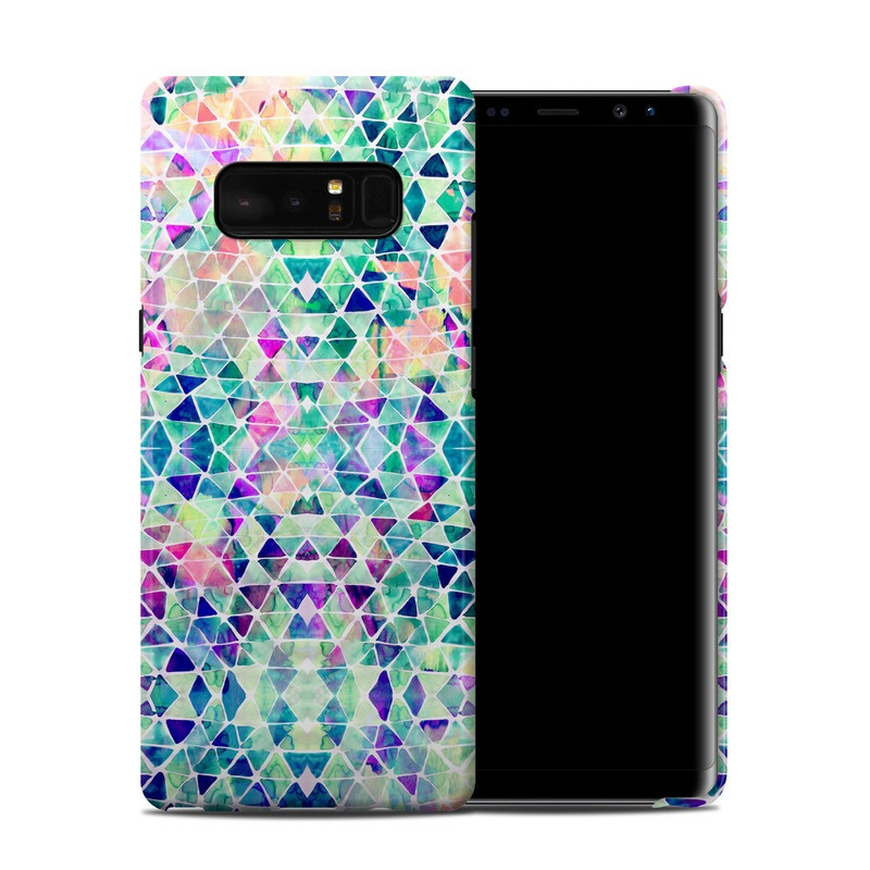 Samsung Galaxy Note 8 Clip Case design of Pattern, Aqua, Line, Teal, Purple, Turquoise, Design with white, blue, purple, orange, green colors