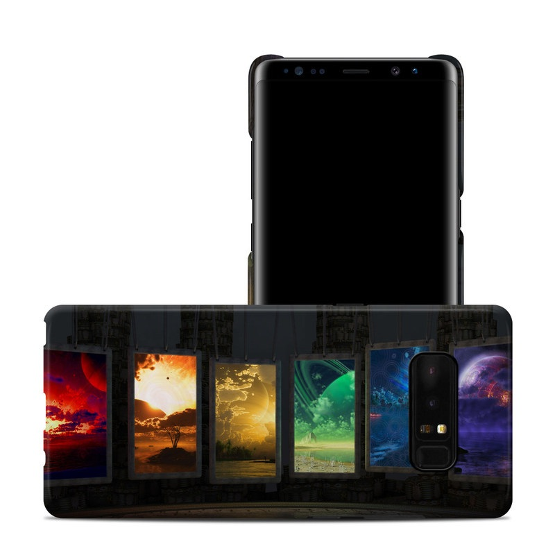 Samsung Galaxy Note 8 Clip Case design of Light, Lighting, Water, Sky, Technology, Night, Art, Geological phenomenon, Electronic device, Glass with black, red, green, blue colors