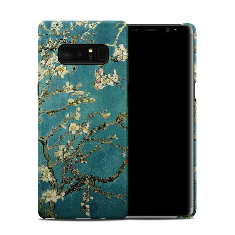 Samsung Galaxy Note 8 Clip Case design of Tree, Branch, Plant, Flower, Blossom, Spring, Woody plant, Perennial plant with blue, black, gray, green colors