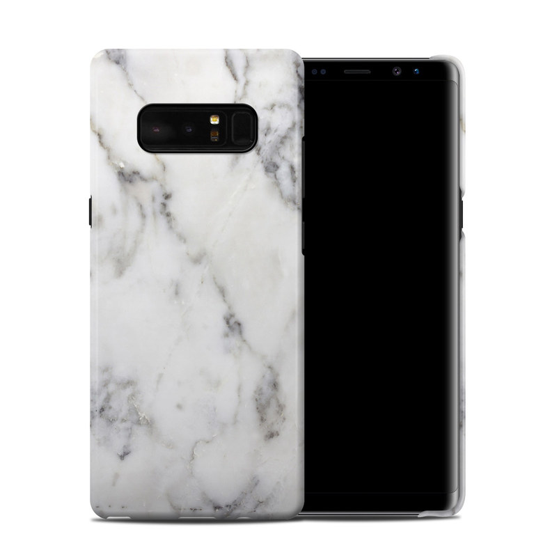 Samsung Galaxy Note 8 Clip Case design of White, Geological phenomenon, Marble, Black-and-white, Freezing with white, black, gray colors
