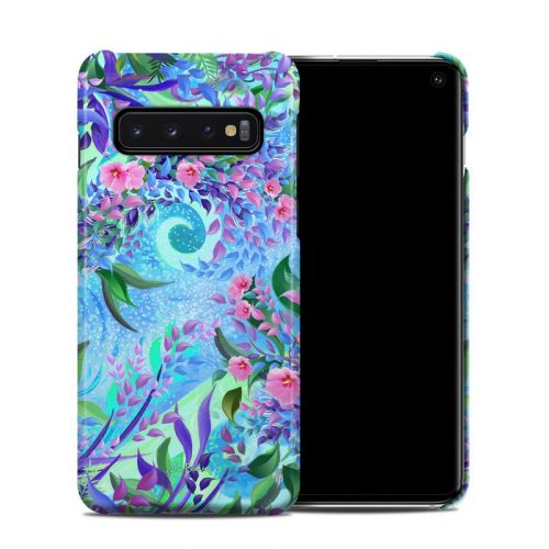 Lavender Flowers Samsung Galaxy S10 Clip Case