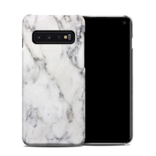 White Marble Samsung Galaxy S10 Clip Case