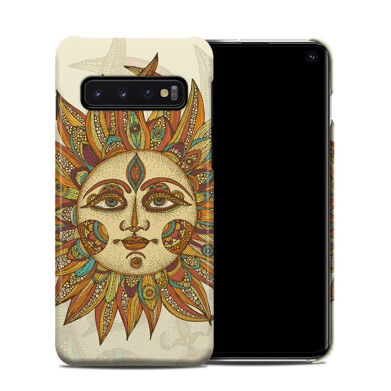 Samsung Galaxy S10 Clip Case design of Illustration, Leaf, Art, Headgear, Visual arts, Floral design, Pattern, Graphic design, Graphics with blue, gray colors