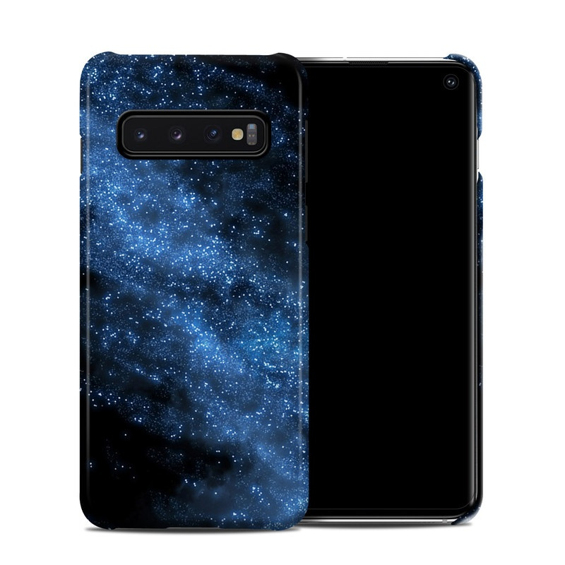 Samsung Galaxy S10 Clip Case design of Sky, Atmosphere, Black, Blue, Outer space, Atmospheric phenomenon, Astronomical object, Darkness, Universe, Space with black, blue colors