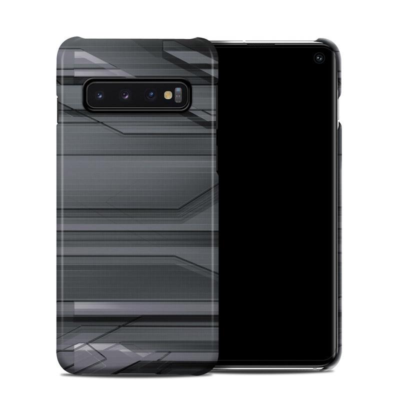 Samsung Galaxy S10 Clip Case design of Black, Monochrome, Line, Architecture, Black-and-white, Design, Pattern, Sky, Automotive design, Ceiling with black, gray colors