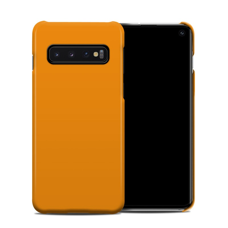 Samsung Galaxy S10 Clip Case design of Orange, Yellow, Brown, Text, Amber, Font, Peach with orange colors
