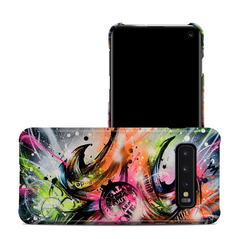 Samsung Galaxy S10 Clip Case design of Graphic design, Fractal art, Art, Illustration, Design, Graphics, Cg artwork, Font, Visual arts, Pattern with black, gray, red, green, purple, blue colors