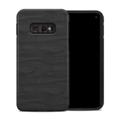 Black Woodgrain Samsung Galaxy S10e Hybrid Case