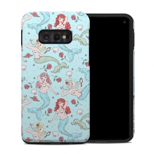 Mermaids and Roses Samsung Galaxy S10e Hybrid Case