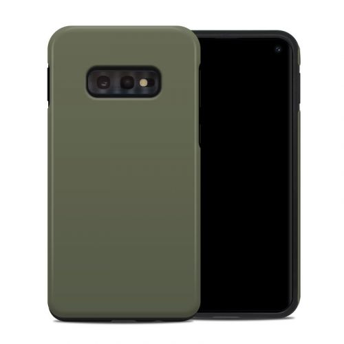 Solid State Olive Drab Samsung Galaxy S10e Hybrid Case