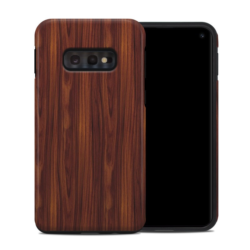 Samsung Galaxy S10e Hybrid Case design of Wood, Red, Brown, Hardwood, Wood flooring, Wood stain, Caramel color, Laminate flooring, Flooring, Varnish with black, red colors