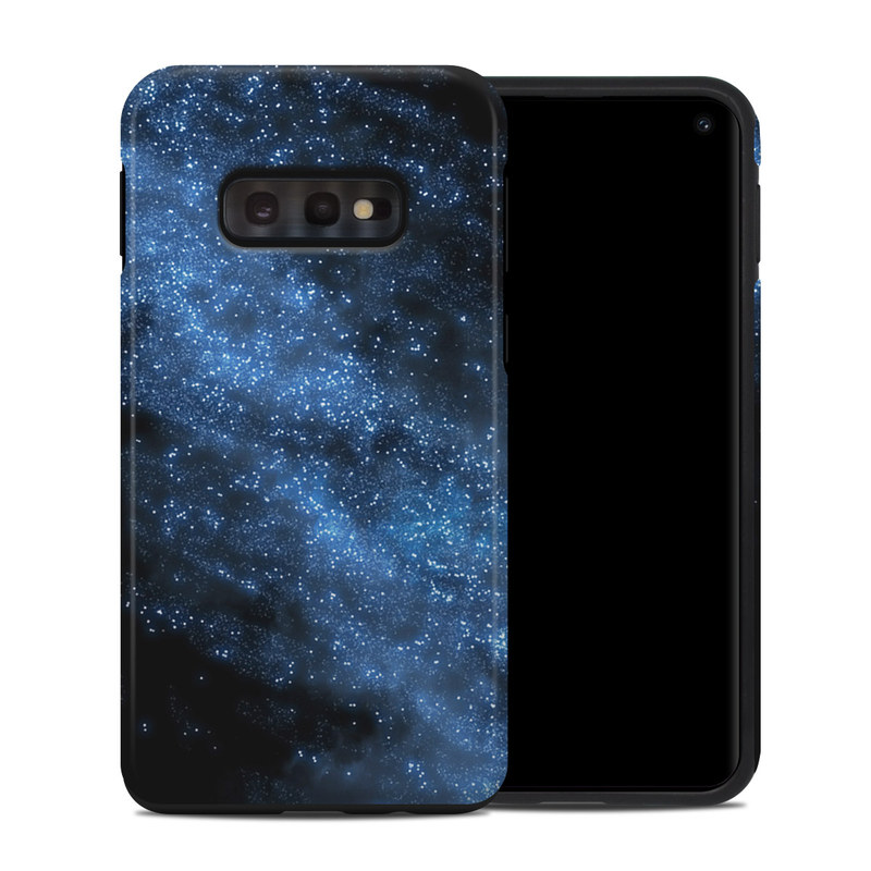 Samsung Galaxy S10e Hybrid Case design of Sky, Atmosphere, Black, Blue, Outer space, Atmospheric phenomenon, Astronomical object, Darkness, Universe, Space with black, blue colors