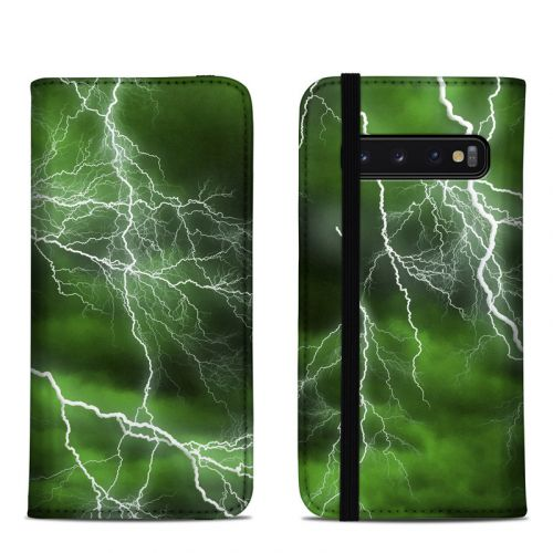 Apocalypse Green Samsung Galaxy S10 Folio Case