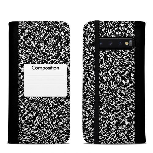 Composition Notebook Samsung Galaxy S10 Folio Case
