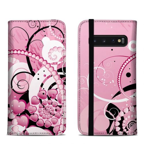 Her Abstraction Samsung Galaxy S10 Folio Case