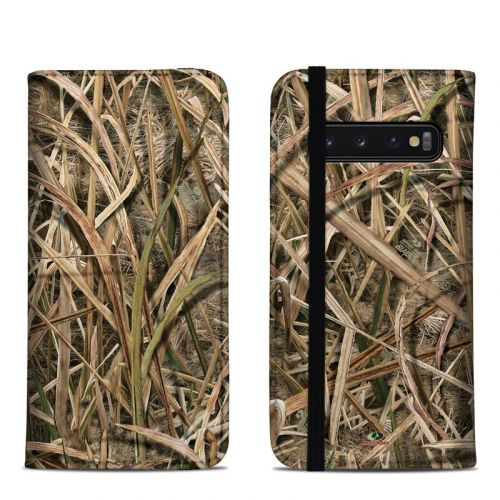 Shadow Grass Blades Samsung Galaxy S10 Folio Case