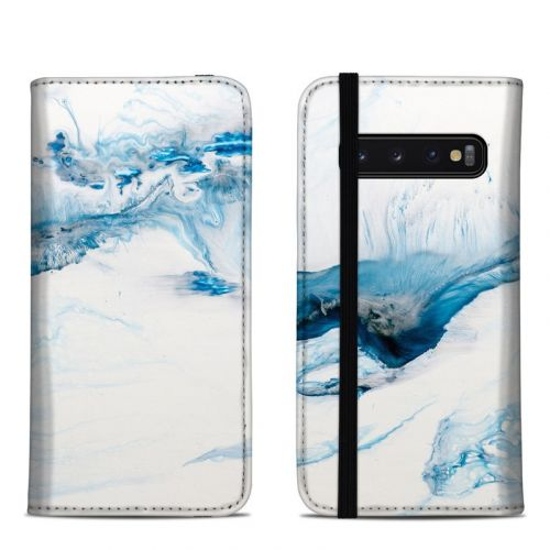 Polar Marble Samsung Galaxy S10 Folio Case