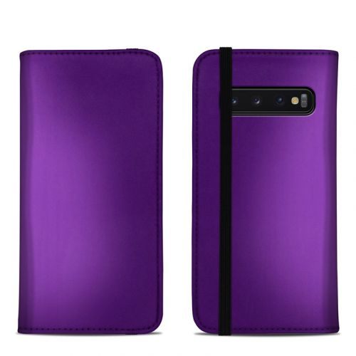 Purple Burst Samsung Galaxy S10 Folio Case
