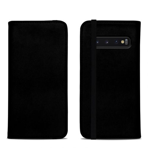 Solid State Black Samsung Galaxy S10 Folio Case