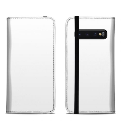 Solid State White Samsung Galaxy S10 Folio Case