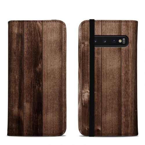Stained Wood Samsung Galaxy S10 Folio Case