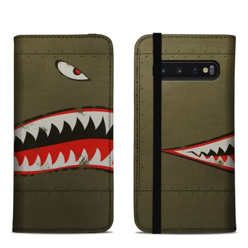USAF Shark Samsung Galaxy S10 Folio Case