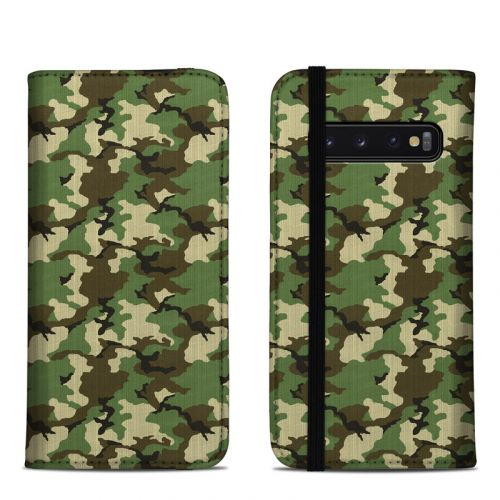 Woodland Camo Samsung Galaxy S10 Folio Case