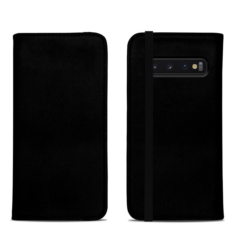 Samsung Galaxy S10 Folio Case design of Black, Darkness, White, Sky, Light, Red, Text, Brown, Font, Atmosphere with black colors