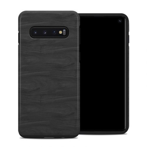 Black Woodgrain Samsung Galaxy S10 Hybrid Case