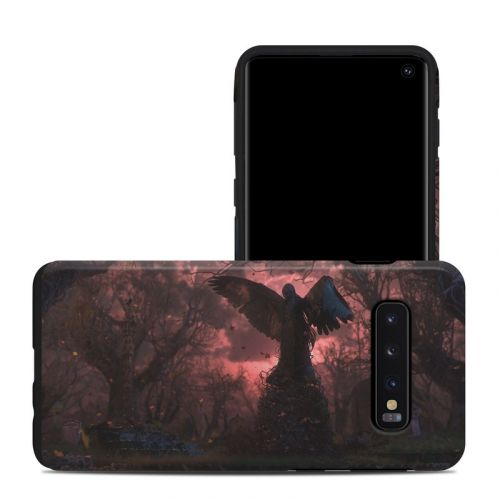 Black Angel Samsung Galaxy S10 Hybrid Case