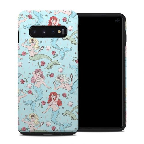 Mermaids and Roses Samsung Galaxy S10 Hybrid Case